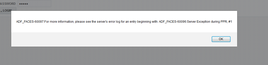 Adf_faces-60097:for More Information, Please See The Server's Error
